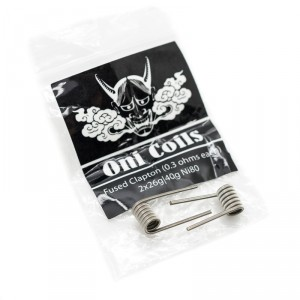 ONI PREBUILT FUSED CLAPTON COIL (0.3 OHM)(PACK OF 2)