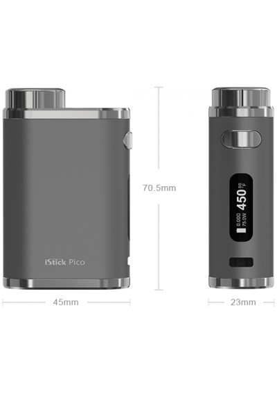 Eleaf iStick Pico mini 75 w Mod Only Brushed Stainless Steel & Full Black