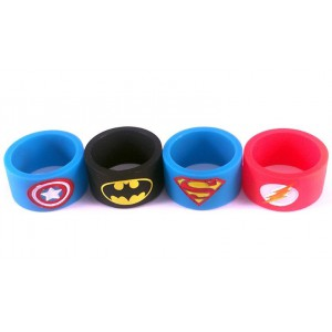 Superhero Silicone Vape bands embossed