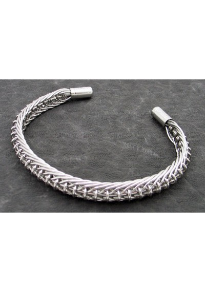 Demon Killer Vaping Culture Art Bracelet A for Vapers - Silver, 316 Stainless Steel