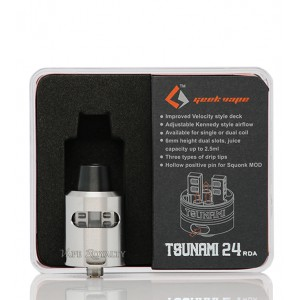 GeekVape Tsunami 24 RDA (Latest Edition) with Glass Window