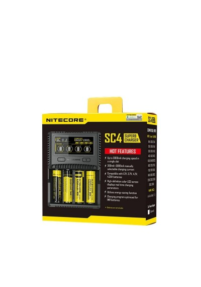 Nitecore SC4 LCD Display USB Rapid Intelligent Charge