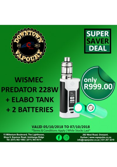 Wismec Predator 228 With Elabo Kit / incl bat